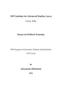 Phd thesis political economy